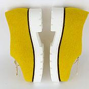 """Обувь ручной работы. Ярмарка Мастеров - ручная работа Туфли """"Yellow tulip"""". Handmade."""