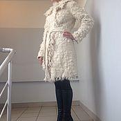 Одежда ручной работы. Ярмарка Мастеров - ручная работа Валяное пальто из кудряшек альпаки .. Handmade.