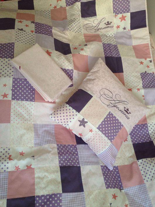 Пледы и одеяла ручной работы. Ярмарка Мастеров - ручная работа. Купить Лоскутный комплект постельного белья. Handmade. Одеяло