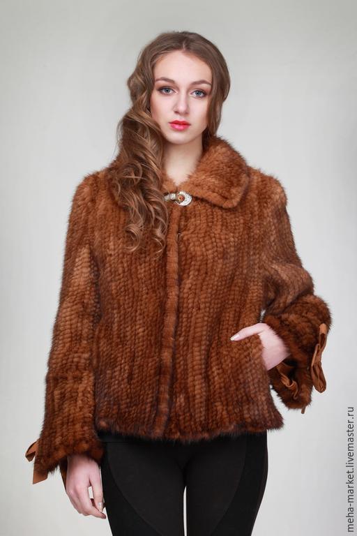 Куртка из вязаной норки `Беатриса`