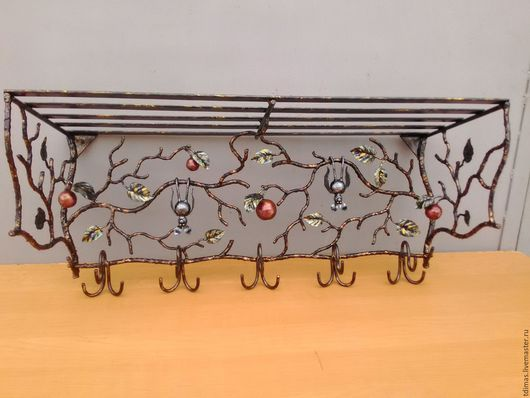 Прихожая ручной работы. Ярмарка Мастеров - ручная работа. Купить Вешалка с летучими мышками. Handmade. Вешалка, изделия из металла, сталь