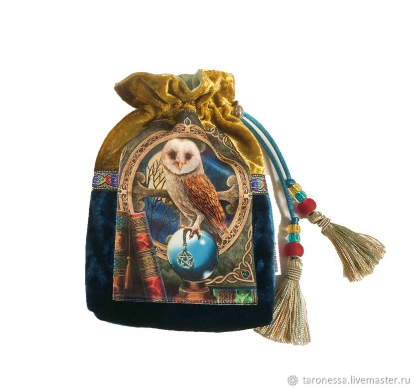 Bag ' Owl ' for Tarot, oracles, runes or crystals, Baggie, Noginsk,  Фото №1
