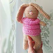 Куклы и игрушки ручной работы. Ярмарка Мастеров - ручная работа Зайчонок вязаный. Handmade.