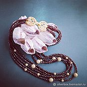 Necklace handmade. Livemaster - original item Romegranate necklace Multi-row GARNET Handmade Author`s work. Handmade.
