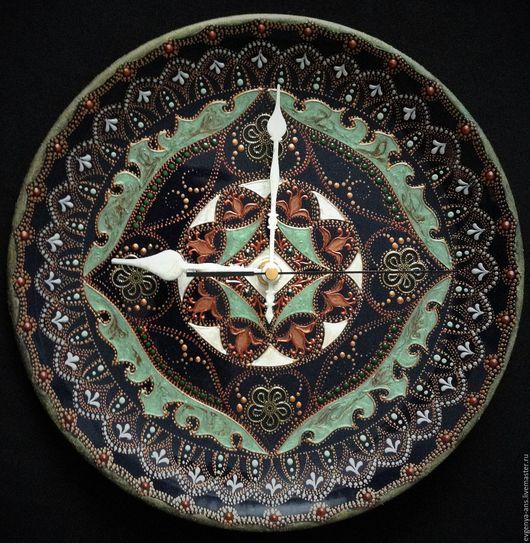 Часы для дома ручной работы. Ярмарка Мастеров - ручная работа. Купить Часы настенные керамические Byzantine times. Handmade.