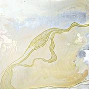 Картины и панно handmade. Livemaster - original item Warm light abstract painting, Golden mist series. Handmade.