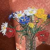 Цветы и флористика ручной работы. Ярмарка Мастеров - ручная работа Полевые цветы из бисера. Handmade.
