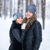 Аксессуары ручной работы. Ярмарка Мастеров - ручная работа Комплект шапочек для влюбленных Love is. Handmade.