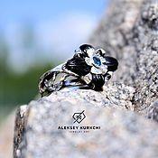 """Кольца ручной работы. Ярмарка Мастеров - ручная работа Кольца: Авторское кольцо """"Голубой нектар"""". Handmade."""