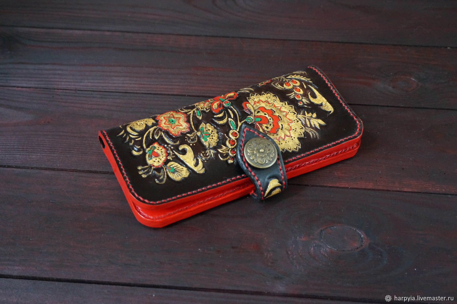 """Copy of Copy of Портмоне """"Indian"""" Натуральная кожа, Wallets, Moscow,  Фото №1"""