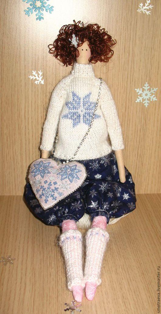 Куклы Тильды ручной работы. Ярмарка Мастеров - ручная работа. Купить Кукла интерьерная - Снежинка. Handmade. Тёмно-синий