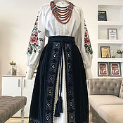 handmade. Livemaster - original item Embroidered set in the style of ethno-chic