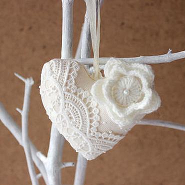 Куклы и игрушки ручной работы. Ярмарка Мастеров - ручная работа Сердце с цветком. Handmade.