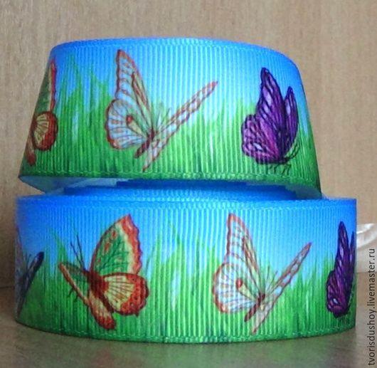 Другие виды рукоделия ручной работы. Ярмарка Мастеров - ручная работа. Купить Репсовая лента Бабочки (24). Handmade.
