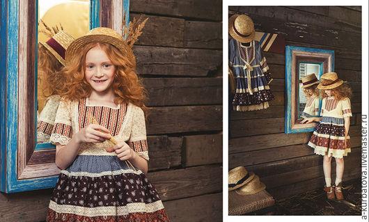 Одежда для девочек, ручной работы. Ярмарка Мастеров - ручная работа. Купить Платье БОХОШИК. Handmade. Разноцветный, Платье осеннее, бохо