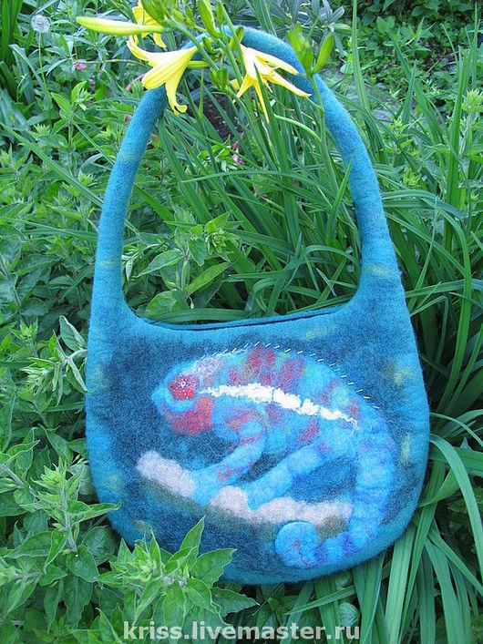 Женские сумки ручной работы. Ярмарка Мастеров - ручная работа. Купить сумка Хамелеон. Handmade. Тёмно-бирюзовый