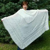 Аксессуары handmade. Livemaster - original item 183 openwork Orenburg downy shawl, shawl, accessories. Handmade.
