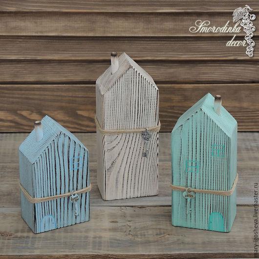 Элементы интерьера ручной работы. Ярмарка Мастеров - ручная работа. Купить Интерьерные домики из дерева с трубами-3. Handmade. Домик