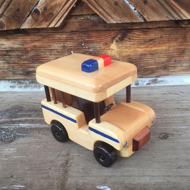 Полицейская Машина деревянная, Техника роботы транспорт, Черемшанка,  Фото №1