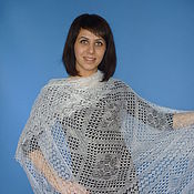 Аксессуары handmade. Livemaster - original item 35-shawl Orenburg downy shawl