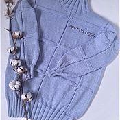 """Свитеры ручной работы. Ярмарка Мастеров - ручная работа Свитер """"Blue sky"""" для зимы. Handmade."""