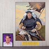 Картины и панно handmade. Livemaster - original item Portrait of a man in the image of Genghis Khan. gift for birthday. Handmade.