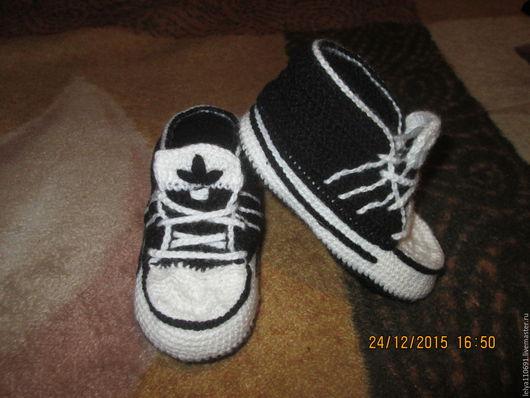 Обувь ручной работы. Ярмарка Мастеров - ручная работа. Купить Пинетки-кеды. Handmade. Чёрно-белый, красивые, логотип на заказ