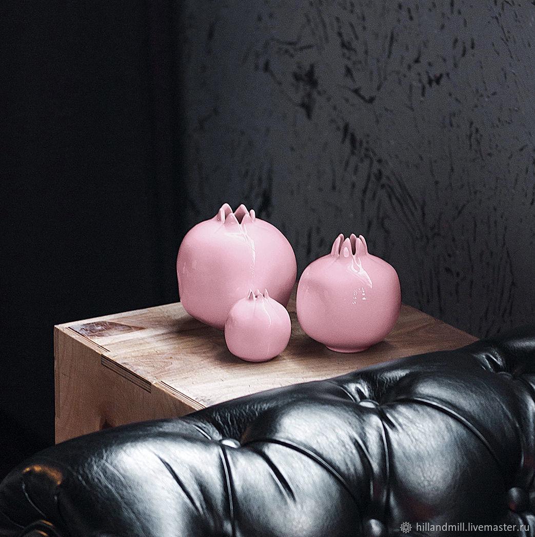 Set of pink pomegranates, Figurines, Vyazniki,  Фото №1