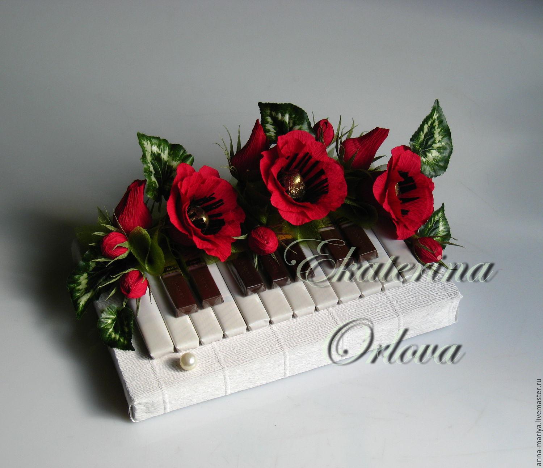 Фото рояль из конфет своими руками