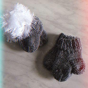 Товары для малышей ручной работы. Ярмарка Мастеров - ручная работа Пинетки: Вязаные носочки. Handmade.