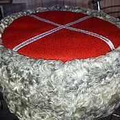 Аксессуары handmade. Livemaster - original item Kubanka made of grey Doodle with a red top. Handmade.