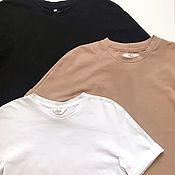 Одежда handmade. Livemaster - original item Set of 3 basic t shirts in basic Colors. Handmade.