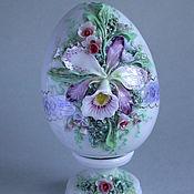 Подарки к праздникам ручной работы. Ярмарка Мастеров - ручная работа Пасхальное яйцо с подставкой. Handmade.