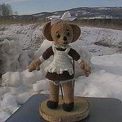 """Куклы и игрушки ручной работы. Ярмарка Мастеров - ручная работа Вязаная мышка """"Первоклашка"""". Handmade."""