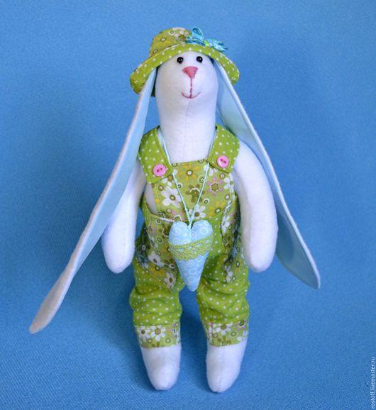 Куклы Тильды ручной работы. Ярмарка Мастеров - ручная работа. Купить Тильда-Заяц: Душевный). Handmade. Белый, мягкая