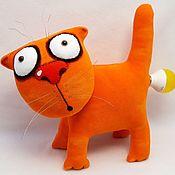 Куклы и игрушки handmade. Livemaster - original item The magic power of electricity. Soft toy red cat Vasya Lozhkina. Handmade.