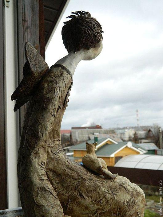 Элементы интерьера ручной работы. Ярмарка Мастеров - ручная работа. Купить Младший ангел. Handmade. Коричневый, подарок на новый год