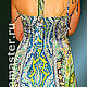 Dresses handmade. sundress 'Souvenir'. Designer Lana Kmekich (lanakmekich). Online shopping on My Livemaster. Ornament, silk sundress