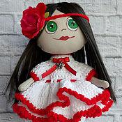Куклы и игрушки ручной работы. Ярмарка Мастеров - ручная работа Куколка с цветком. Handmade.