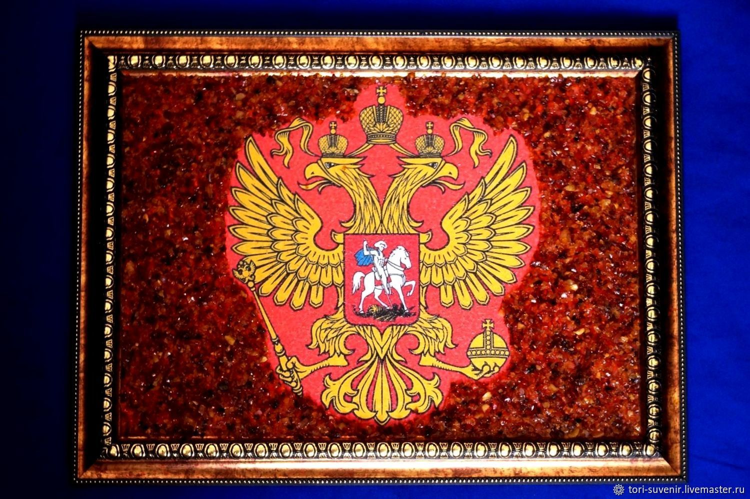 The coat of arms of Russia in amber, Pictures, Belokuriha,  Фото №1
