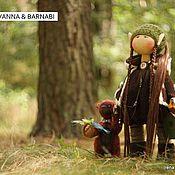 Куклы и игрушки ручной работы. Ярмарка Мастеров - ручная работа куколка Ilvanna & мишка Barnabi. Handmade.