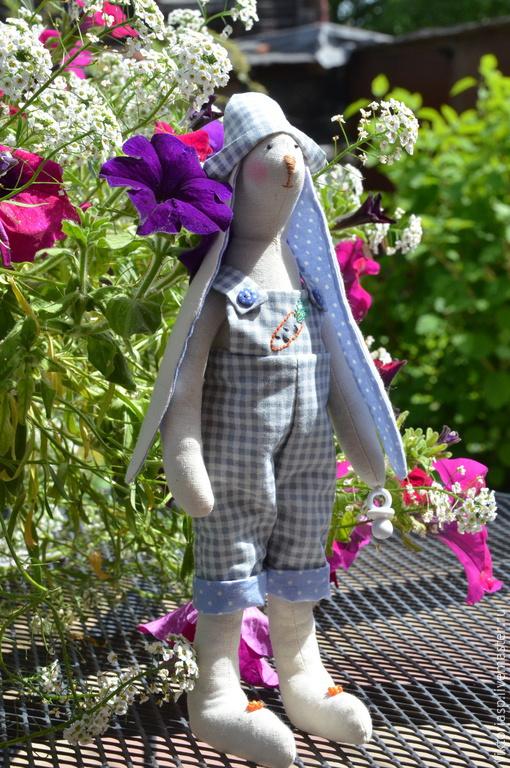 Куклы Тильды ручной работы. Ярмарка Мастеров - ручная работа. Купить Заяц Егорка. Handmade. Зайка, подарок на день рождения