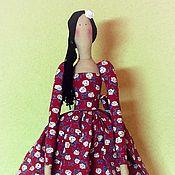 Куклы и игрушки ручной работы. Ярмарка Мастеров - ручная работа Тильда в платье с розочками. 50 см.. Handmade.