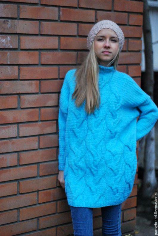 """Кофты и свитера ручной работы. Ярмарка Мастеров - ручная работа. Купить Модный свитер """"Be bright!"""". Handmade. Бирюзовый"""