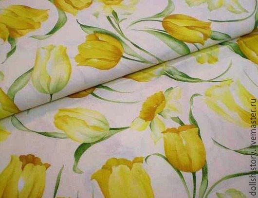 Ткань, хлопок, ткани,ткань для шитья,хлопок 100%, крупные цветы.