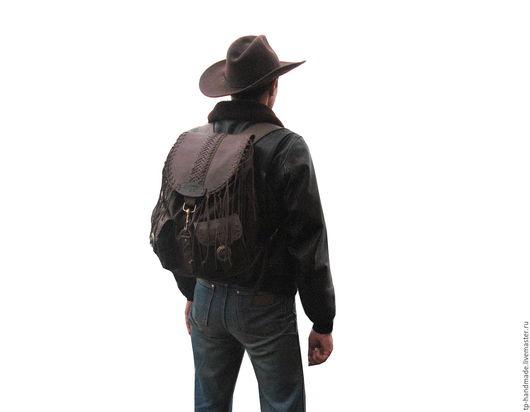 Рюкзаки ручной работы. Ярмарка Мастеров - ручная работа. Купить Рюкзак мужской кожаный кантри «El Paso ». Handmade.