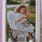 """Картины и панно ручной работы. Ярмарка Мастеров - ручная работа """"Ангел"""". Handmade."""