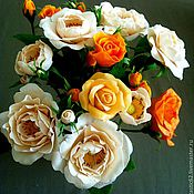 Цветы и флористика ручной работы. Ярмарка Мастеров - ручная работа Чайные розы.. Handmade.