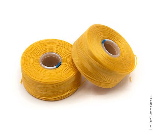 Для украшений ручной работы. Ярмарка Мастеров - ручная работа. Купить Нить S-LON размер AA желтый Golden Yellow Катушка 68 метров. Handmade.