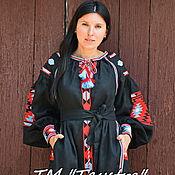 Одежда ручной работы. Ярмарка Мастеров - ручная работа Платье с вышивкой, платье бохо,Bohemia,вышиванка, стиль Вита Кин. Handmade.